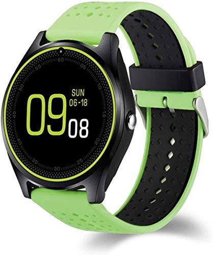 HUYAYUN Reloj Inteligente, con cámara Reloj Inteligente Podómetro Salud Deportes Tiempo Hombres Mujeres Reloj Inteligente para Android iOS Fácil de Usar Uso Diario./ Rojo