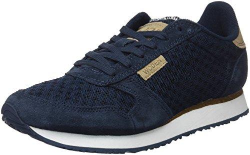 Woden Sneakers Ydun Suede Mesh, 010 Navy, 39 EU