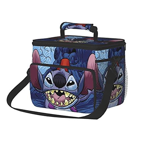 Bolsa de almuerzo Aladdin con diseño de dibujos animados con correa para el hombro, portátil para exteriores, camping, barbacoa/viajes