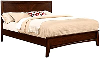 Amazon Com Bowery Hill Traditional Style Queen Sleigh Bed