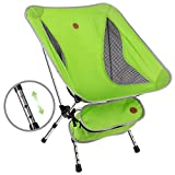 Awenia Outdoor Camping Chair, 2019 Newest Portable Lightweight Folding Beach Chair with Carry Bag, Adjustable...