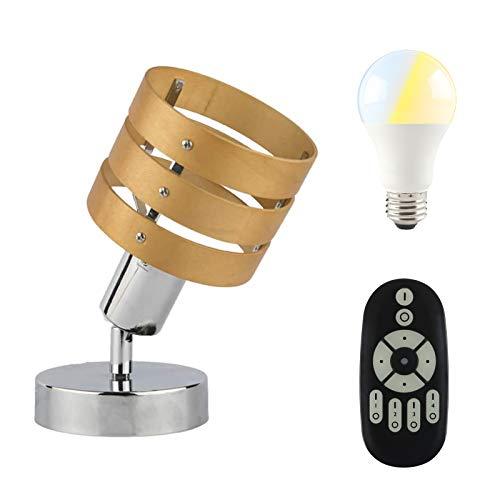 共同照明 フロアランプ 1灯 ナチュラル 調光調色LED電球60W形付き リモコン対応 E26 テーブルライト GT-SETTD-3W-9WT2-Y 壁掛け照明 シアターライト led ベッドサイドランプ スタンドライト 間接照明 スポットライト 3環ウッ