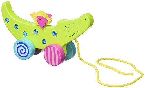 Goki 54917–Animal Nachziehspielzeug Krokodil (Holz) (+ 1Jahr)