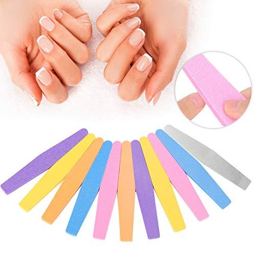 10pcs professionnel éponge ongles fichier de polissage manucure outil de pédicure ensemble ongles