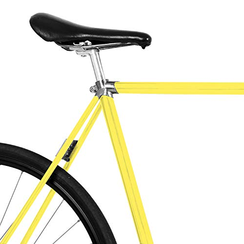 MOOXIBIKE Fresh Yellow Fahrradfolie glänzend für Rennrad, MTB, Trekkingrad, Fixie, Hollandrad, Citybike, Scooter, Rollator für circa 13 cm Rahmenumfang