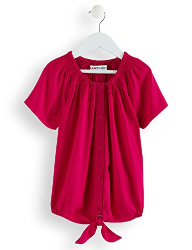 Amazon-Marke: RED WAGON Mädchen Bluse mit Knoten, Rosa (Virtual Pink), 110, Label:5 Years