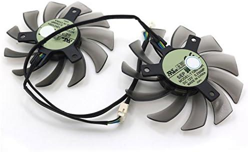1pcs T128010SH DC 12V 75mm 0.25A 3//4//5Pin GPU Graphics Card Fan 4pin