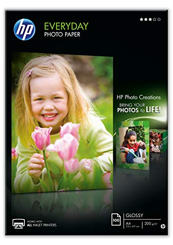 Hp Everyday Photo Paper Q2510A - Papel de fotografía brillante, A4 (210 X 297...