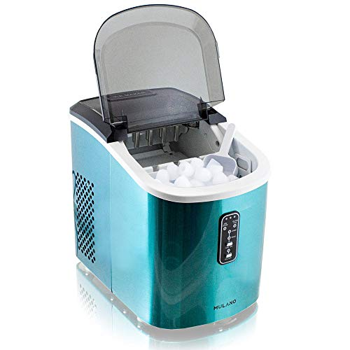 Eiswürfelmaschine Edelstahl Eiswürfelbereiter Eiswürfel Ice Maker Eis Maschine Icemaker (Blau)