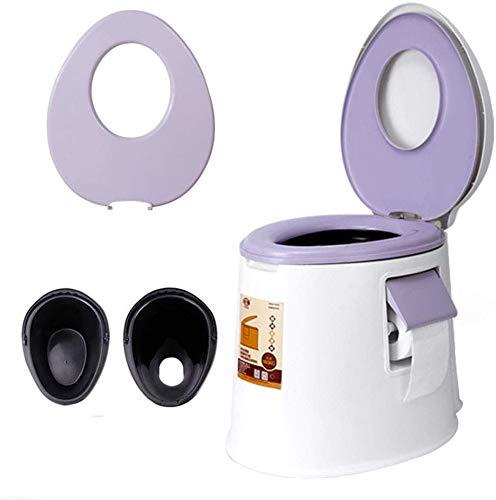 WEHOLY Campingstuhl für Erwachsene, tragbarer Toilettenstuhl für Erwachsene, für Reisen, Outdoor-Aktivitäten, Toilettenstuhl, Reinigungsmittel, violett
