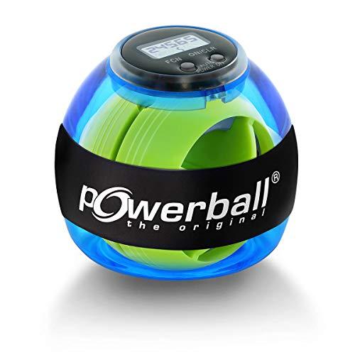 Powerball Basic Counter, gyroskopischer Handtrainer inkl. Drehzahlmesser, transparent-blau, das Original von Kernpower