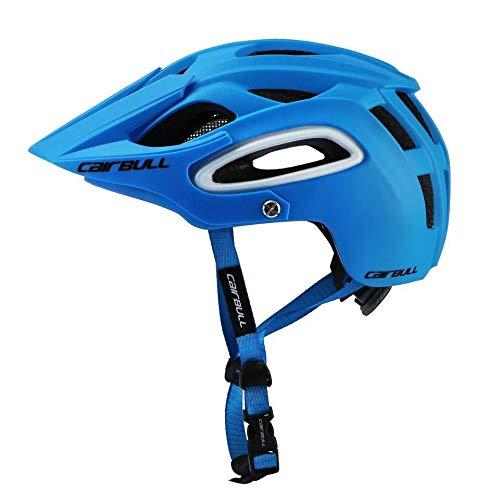 Heemtle Ultraleichter Fahrradhelm Atmungsaktive Sicherheit Integrierter Profi-MTB-Fahrradhelm, verstellbar (Blau L: 58-62 cm)