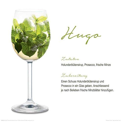 REINDERS glasschilderij - Deco Glass - motief cocktails Hugo - 30 x 30 cm