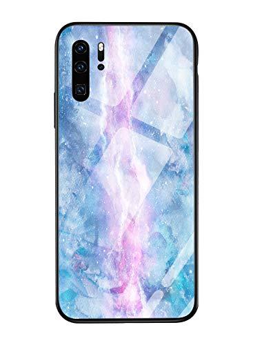 Oihxse Mode Coloré Dégradé Case Compatible pour Huawei Honor Note 10 Coque Revêtement Arrière en 9H Verre Trempé Protection Housse Mignon Silicone Bord Bumper Anti Rayures Etui