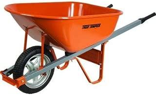 True Temper 6 cu. ft. Steel Wheelbarrow with Steel Handles and Flat Free Tire