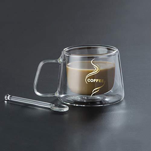 Syfinee Coffee Mug Espresso Cup Thermal Glass Double Wall High Borosilicate Mugs