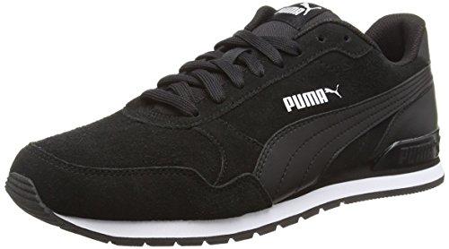 PUMA Unisex Adult ST Runner v2 SD Sneaker, Black Black, 40.5 EU