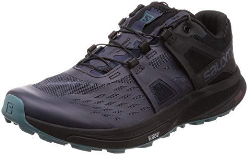Salomon Damen Ultra Pro Trail Running Schuh, Grau (Graphite/Black/Hydro.), 38.5