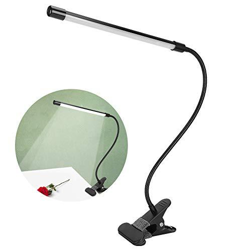 Oumij1 Luz de Lectura LED con Clip Ajustable - Luz de Libro alimentada por USB - Plegable Flexible - para niños, cabecera de Cama y Viajes