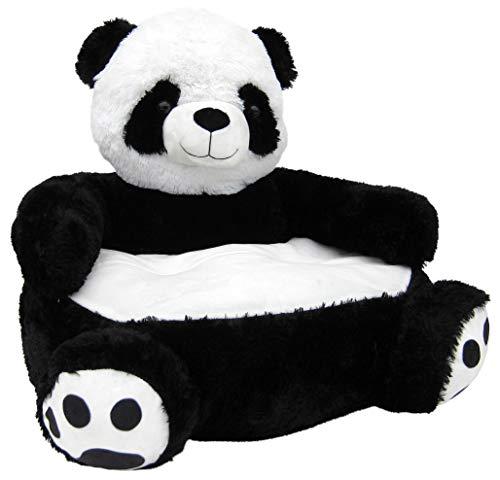 Wagner 8050 - Kindersessel Panda in Weiss-schwarz aus Plüsch, ca. 50 cm, Plüschtier Plüsch Sessel Kindersofa Sofa