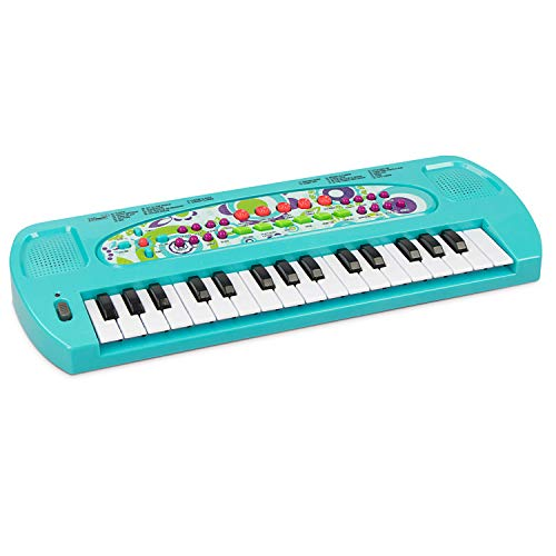 aPerfectLife Kids Piano Keyboard, 32 Keys Multifunction Portable Toy Piano for Kids, Electric Piano Music Instruments Toy for 3 4 5 6 7 8 Year Old Boys and Girls (Blue)