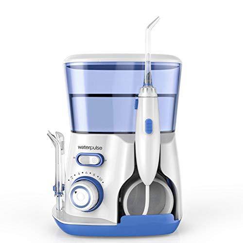 Professionel Munddusche Tragbare Water Flosser 5 Ersatzdüsen 10 Druckstufen 800ML Wassertank Zahnpflege Zahnzwischenraumreinigung