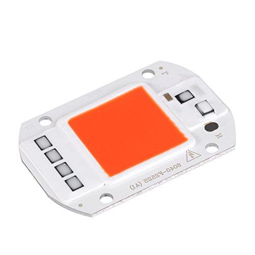 Zerodis 50W LED Source de Puce COB Puce Super Lumineux Intensité Lumière Émetteur Composants pour DIY Élever la Lumière, Plante Intérieure végétale et Fleur AC220V(Rouge)