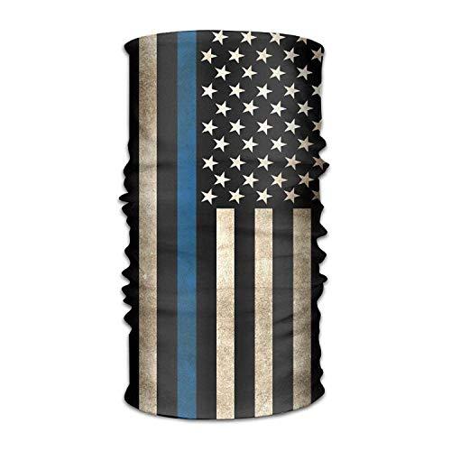 dingjiakemao Unisex Stylish Thin Line Flag USA American Quick Dry Microfiber Headwear Outdoor Magic Bandana As Neck Gaiter Head Wrap Headband Scarf Face Mask Ultra Soft Elastic One Size
