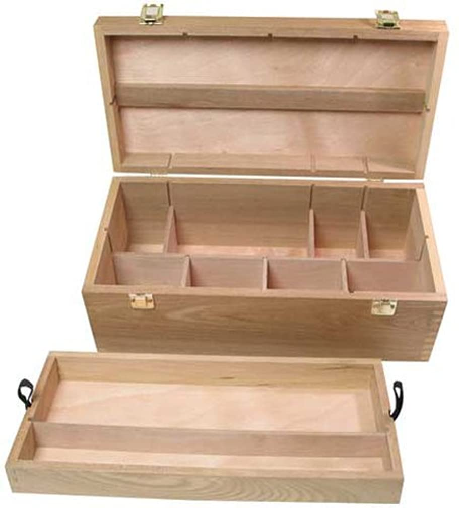 Art Alternatives Wood Box Supply Chest,Brown,16-1/8