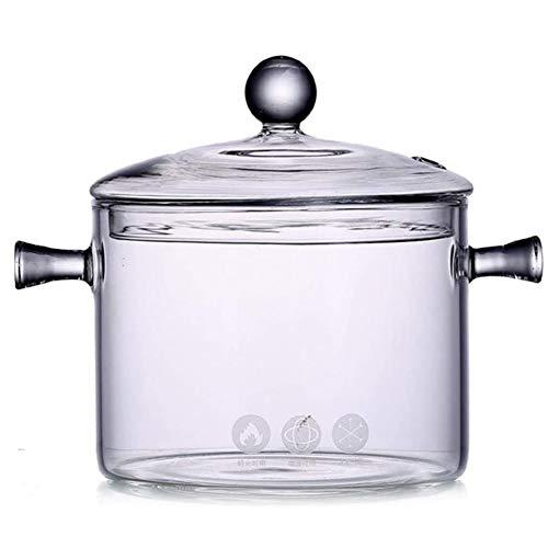 Glazen Deksel Pan Pot Deksel, 1350 Ml Glazen Kookpot Handmatig in Te Stellen Koken - Keuken Kan Een Temperatuur Van 0 ° C Te Weerstaan Tot 400 ° F Tot