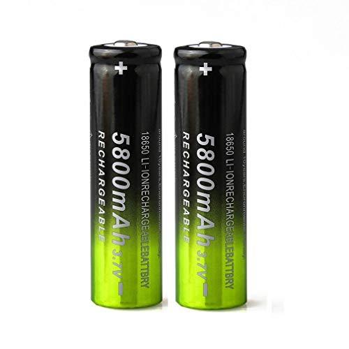 Baterías 18650 Baterías Recargables 3.7V 5800mAh Batería de Iones de Litio de...