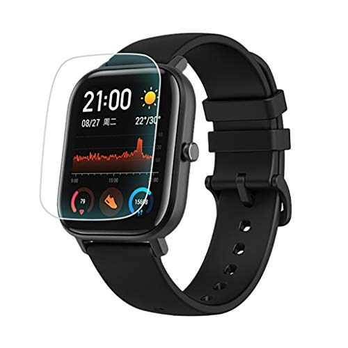 Vaycally 3pc Cubierta completa Clear Soft Pet HD Protector de pantalla Film Smart Watch Sports Watch Pet Hd Film Smart Wristband Accesorios para Huami Amazfit GTS