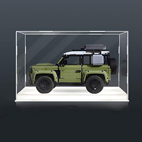 TONGJI Vitrina de Acrílico con Luces Compatible con Lego 42110 Technic - Land Rover Defender, Vitrina A Prueba De Polvo (Modelo No Incluido)