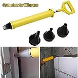Pistola para cartuchos de cemento y cal mortero espray aplicador para inyectar herramientas de llenado con 4 boquillas mortero Yintiod