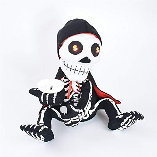 Dunflop Decoración de Halloween Cubierta, Bailar Dinero Mendicidad Fantasma con la Hucha de Halloween Decoración Animado for Home Office Casa Canto