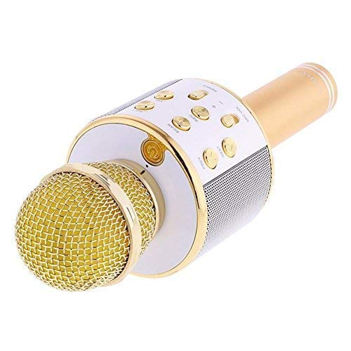 Bluetooth Mic| Wireless Handheld Karaoke Microphone Mic for Singing with Speaker for All Smartphones, Colour as per Availability, Pack of 1 mic