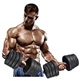 Victool Mancuerna, 2X Juego de Mancuernas Peso Gimnasio Entrenamiento Bíceps Tríceps Pesas Libres Entrenamiento 30KG