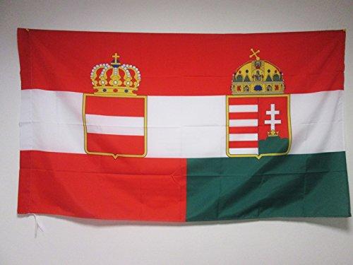 AZ FLAG Flagge ÖSTERREICH-UNGARN 1867-1918 150x90cm - ÖSTERREICHISCH-UNGARISCHE MONARCHIE Fahne 90 x 150 cm Scheide für Mast - flaggen Top Qualität