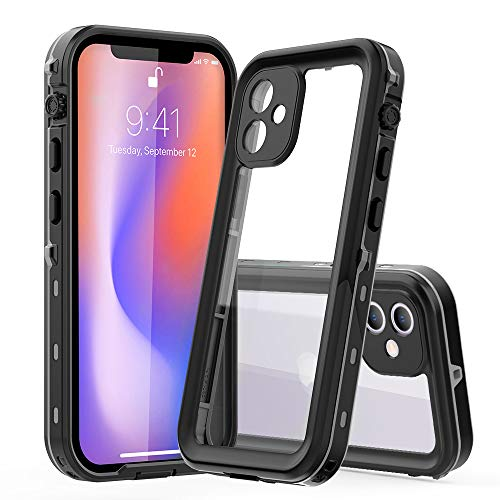 防水ケース iPhone 12ケース 完全防水 耐衝撃 防雪 防塵 超薄型 軽量 IP68米軍規格 無線QI充電対応 360°全...