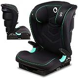 Lionelo Neal silla coche grupo 2-3 Isofix i-Size protección lateral respaldo ajustable en 3-posiciones altura del reposacabezas ajustable sistema de ventilación (Negro)