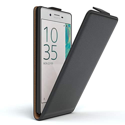 EAZY CASE Hülle kompatibel mit Sony Xperia X Performance Hülle Flip Cover zum Aufklappen, Handyhülle aufklappbar, Schutzhülle, Flipcase, Flipstyle Hülle vertikal klappbar, Kunstleder, Schwarz