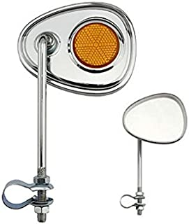 Lowrider V Bicycle Bike Mirror Chrome with Amber...