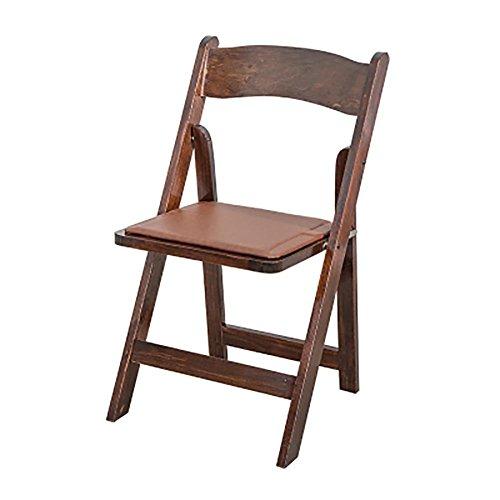 KSUNGB Chaise Pliante en Bois Ergonomie Chaise à Manger Tabouret de Restaurant Chaise Longue Chaises de Balcon Chaise d'étudiant Chaise de Bureau Tabouret de Bar Pliant Adulte, Brown