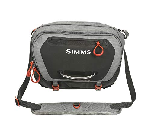 Simms Freestone Fishing Hip Pack, Water Resistant 12 L Fishing Fanny Pack, Grey