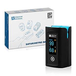 RMOVE Oxímetro de dedo profesional, portátil y rápido para frecuencia cardíaca PR y saturación de oxígeno SpO2, Producto Certificado CE, Medidas de lectura instantánea