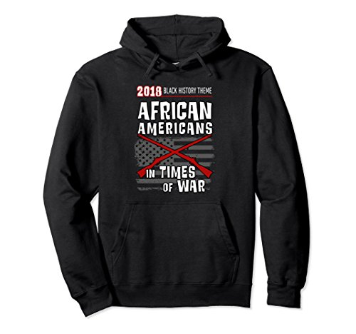 Unisex Black History Hoodie Flag and Muskets War Theme Large Black