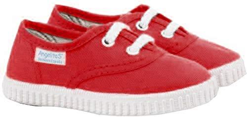 Zapatillas de Lona para Niños y Niñas, Angelitos mod.121, Calzado infantil Made in Spain, Garantia de Calidad. (33, Rojo)