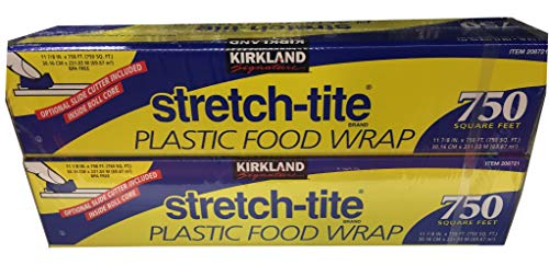 KIRKLAND SIGNATURE Stretch Tite Plastic Wrap 2 Pack X 750' 12' (1500 Sq'), , 2 Count ()