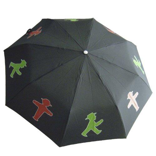 AMPELMANN Taschen- Regenschirm - Undercover Geher/Steher schwarz