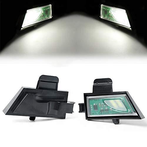 ZFDM 2 unids LED de Charco LED Blanco para VW Golf 7 VII MK7 Variant GTI R20 Sportsvan Touran 2 Canbus Sin Error Coche Side Bajo Lámpara de Espejo (Color : 6000K, Emitting Color : White)